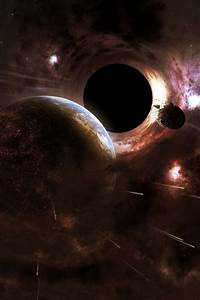 Black hole cataclysm outer space planets stars wallpaper ...