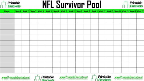 blank football pool templates