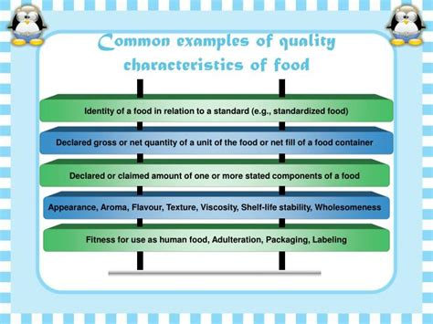 characteristics of cuisine ppt food quality certification powerpoint presentation