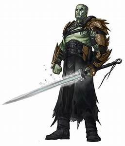 Orc clipart pathfinder rpg - Pencil and in color orc ...
