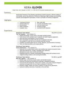crew member resume skills best team members resume exle livecareer