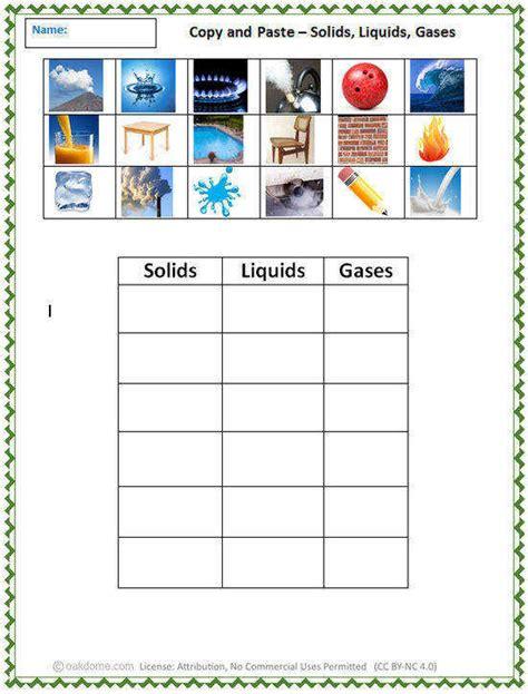Solid Liquid Gas Worksheet Homeschooldressagecom