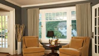 Swag Curtain Ideas For Living Room by Window Treatments For Large Windows With A View Window