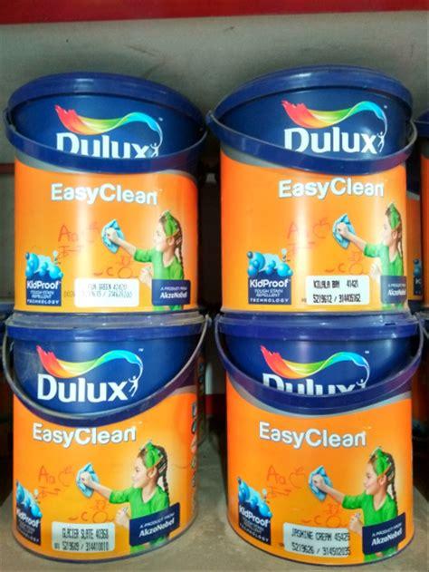 jual cat tembok dulux easy clean  liter  lapak