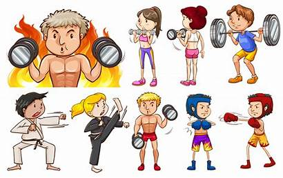 Types Sports Different Doing Illustration Vector Arts