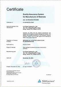 ped 97 23 ec material manufacturer ad2000 w0 inspection With certificate of manufacture template