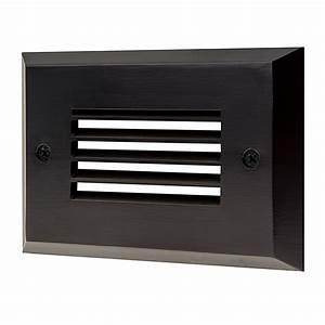 120v led step lights oil rubbed louver rectangular deck With outdoor deck lighting 120v
