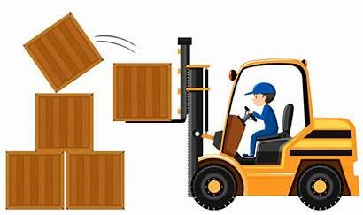 Forklift Empilhadeira Cajas Levantar Levantando Caixas Madeira