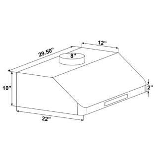 akdy 30 under cabinet mount stainless steel range hood akdy ak rh0246 30 quot under cabinet mount stainless steel