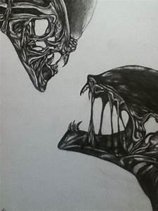 aliens bleistiftzeichnung zeichnungen sven wendisch