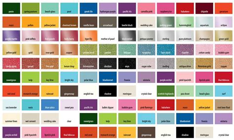 decor glass martha stewart metallic paint color chart martha stewart paint color chart