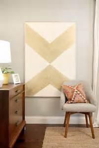 Diy gold chevron art home and heart