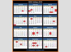 SEBI Holidays 2018