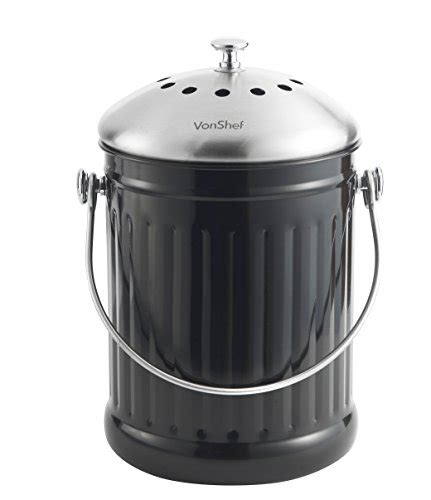 countertop compost bin vonshef 1 2 gallon countertop kitchen compost bin