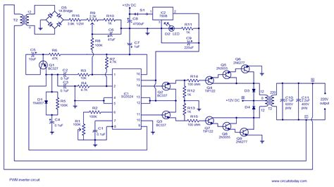 circuits pwm inverter circuit based  sg