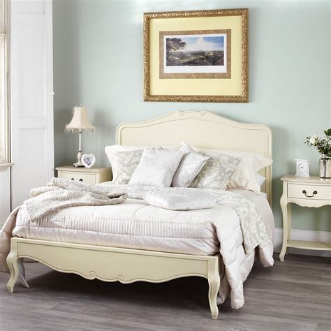shabby chic wooden bed shabby chic chagne double bed