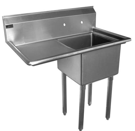 plastic utility sink with drainboard quality commercial kitchen equipment economy stainless 1