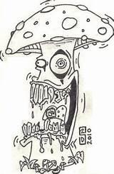 Trippy Drawing Mushroom Hippie Drawings Doodle Kunst Schwarze Pencil Psychedelic Desenhos Sketches Simpsons Zeichnungen Arte Tegninger Disegni Zeichnung Alien Mushrooms sketch template