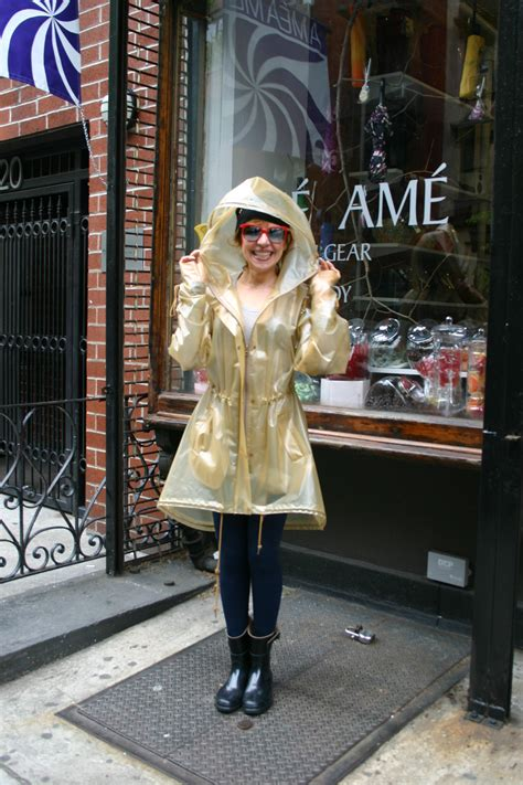 raining nyc time  stock   raincoats  rain