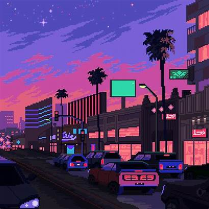 Pixel Aesthetic Vaporwave Retro Neon Anime Arte