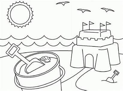 Coloring Pages Summertime Printables Summer Printable Popular