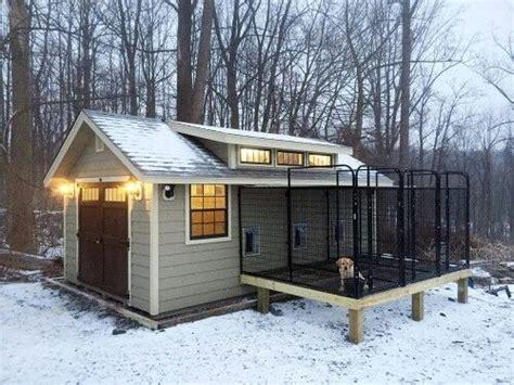 customized kennel    garden shed diy dog kennel