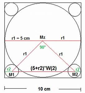 Seitenlänge Berechnen Dreieck : kreis in ein quadrat der seitenl nge a 10cm sind f nf ~ Themetempest.com Abrechnung