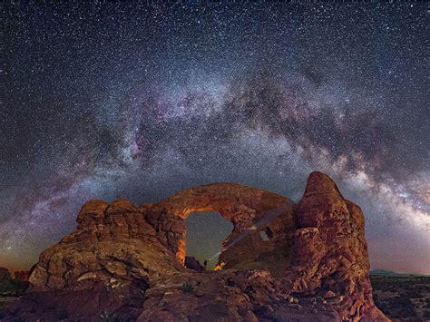 star sky capitol reef national park utah wallpaper