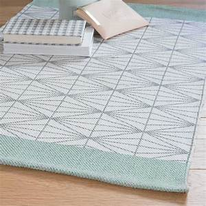 tapis gris vert 60 x 90 cm elua maisons du monde With tapis gris vert