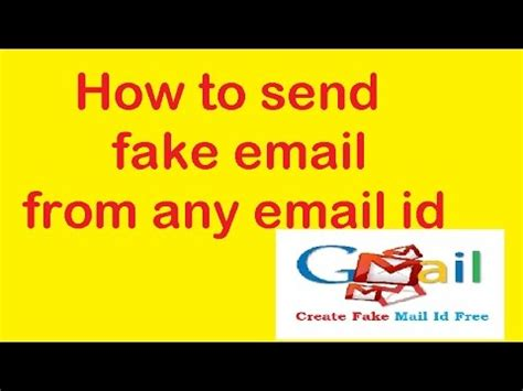 How To Send Fake Email From Any Email Id  Hack Tech Youtube