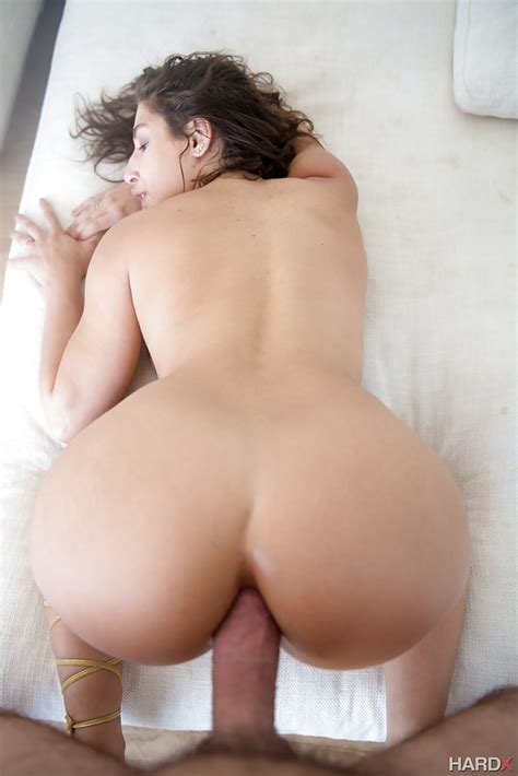 Naked Pornstar Abella Danger Displaying Big Booty During