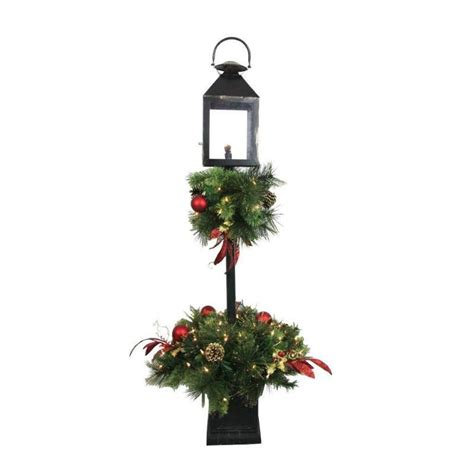 home accents holiday 4 ft artificial lantern porch tree