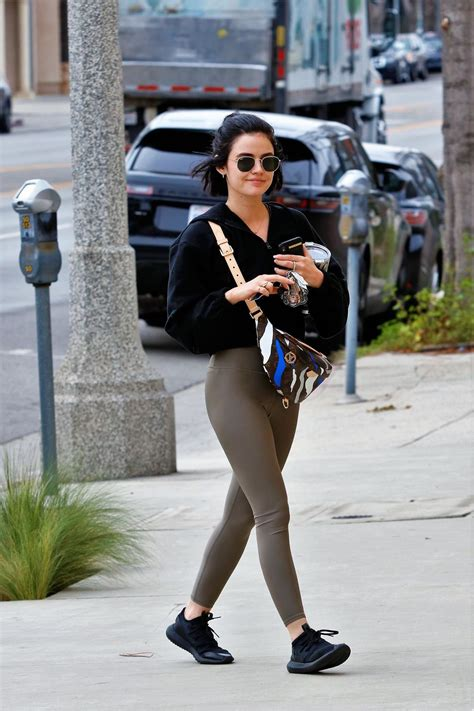 Lucy Hale Wearing leggings out in LA - Celebzz - Celebzz