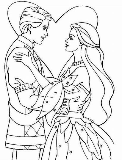 Princess Coloring Prince Pages Drawing Cartoon Getdrawings