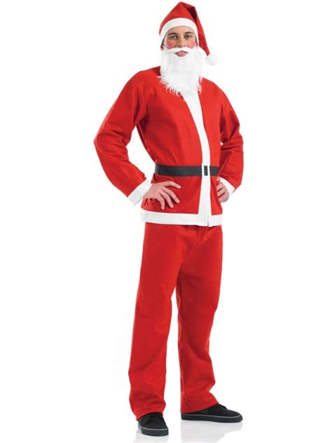 mens cheap santa suit