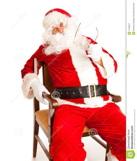 santa in chair royalty free stock photography image