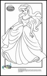Princess Coloring Disney Pages Ariel Princesses Ministerofbeans sketch template