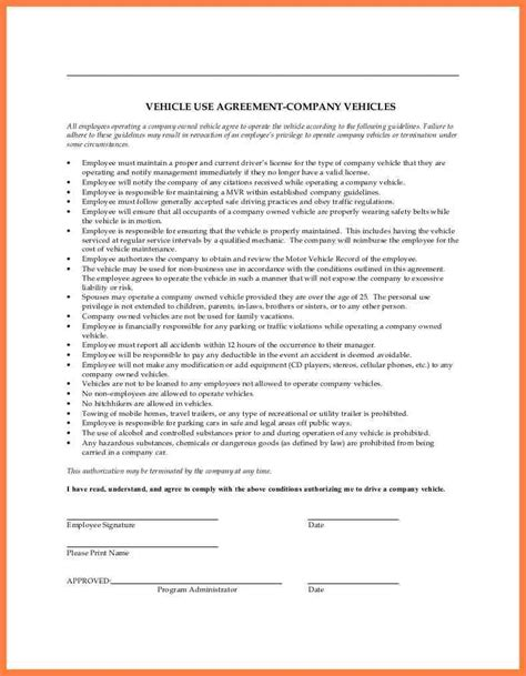 company car policy template company letterhead