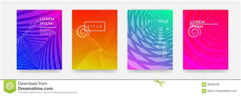 Color Gradient Abstract Geometric Pattern Texture For Book