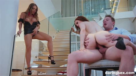 Dream Redhead Fucks Her Rich Boss While The Wife Watches