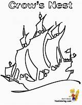 Ship Coloring Pirate Pirates Pages Rigged Boy Yescoloring Seas Kid Boats sketch template