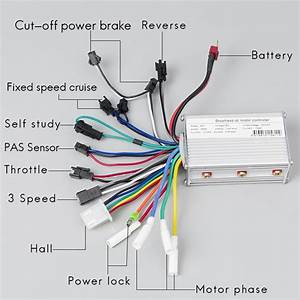 24v 36v 48v 350w 6mosfet Brushless Controller Electric