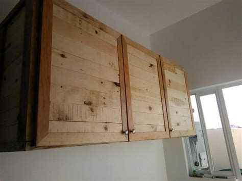 Kitchen Cabinet Doors From Pallets by Kitchen Wholly Made From Recycled Pallets 99 Pallets