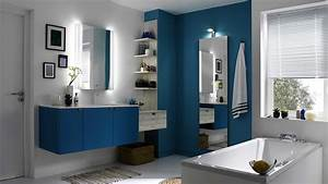 beau salle de bain bleu canard avec salles de bains With salle de bain jaune et bleu