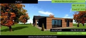 patios maison avec patio par architecte constructeur With plan maison avec patio 17 maison container modulaire ossature bois d architecte