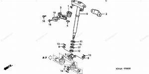 Honda Atv 2003 Oem Parts Diagram For Steering Shaft