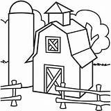Barn Coloring Pages Silo Barns Elevator Simple Preschool Drawing Colouring Farm Grain Sheets Template Clipart Printable Clip Quilt Colorluna Animals sketch template