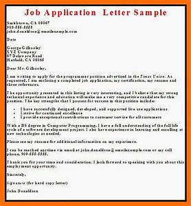 business letter examples job application letter With examples of a covering letter for a job application