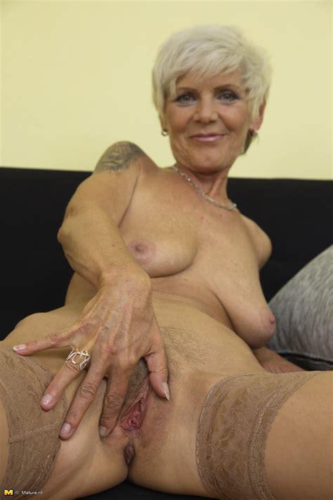 Blond 57yo Granny Irenka Gets Naked Pornhugocom