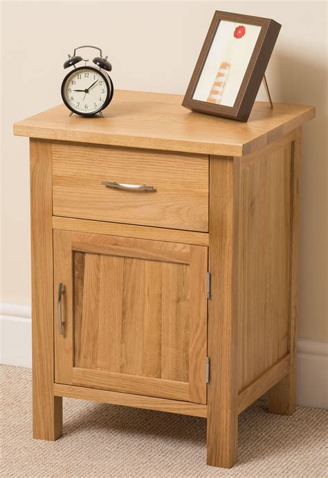 Small Bedroom Tables by Boston Solid Oak Small Bed Side Table Unit 1 Drawer 1 Door